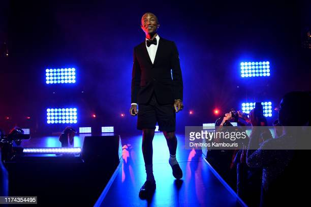 Pharrell Williams performs onstage during Rihanna's 5th Annual Diamond Ball Benefitting The Clara Lionel Foundation at Cipriani Wall Street on...