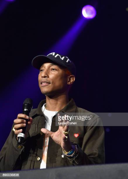 Pharrell Williams performs onstage during Stevie's 21st Annual House Full of Toys Benefit Concert at Staples Center on December 10 2017 in Los...