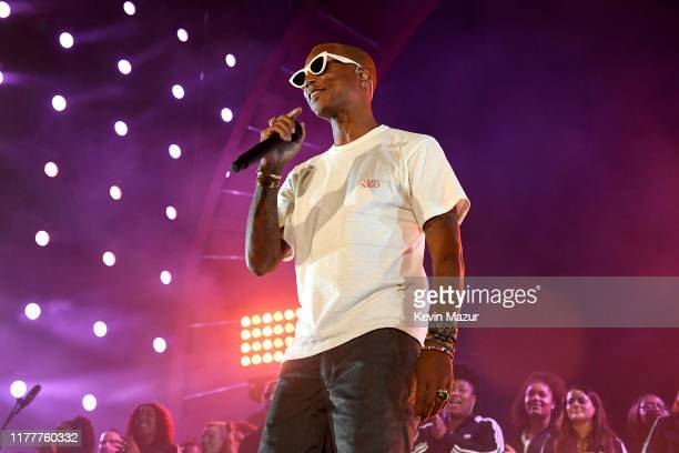 Pharrell Williams performs onstage during the 2019 Global Citizen Festival Power The Movement in Central Park on September 28 2019 in New York City