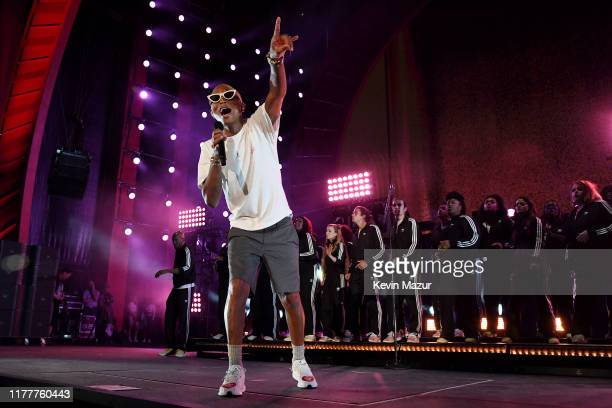 Pharrell Williams performs onstage during the 2019 Global Citizen Festival: Power The Movement in Central Park on September 28, 2019 in New York City.