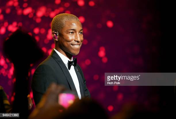 Pharrell Williams performs onstage during the 7th Biennial UNICEF Ball on April 14 2018 in Beverly Hills California