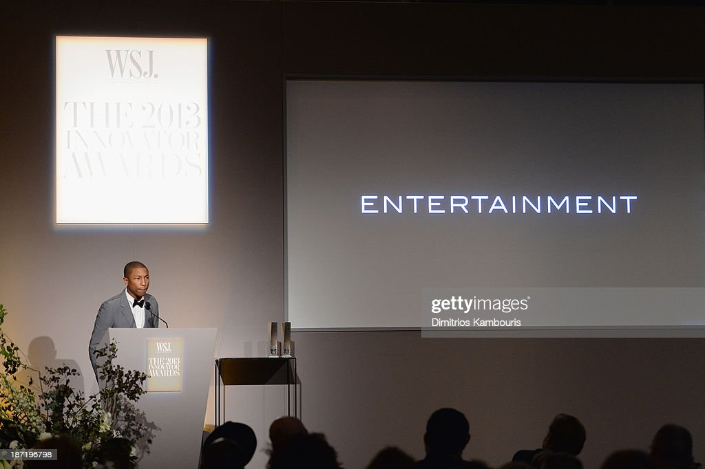 Pharrell Williams speaks onstage at the WSJ. Magazine's 'Innovator Of The Year' Awards 2013 at The Museum of Modern Art on November 6, 2013 in New York City.