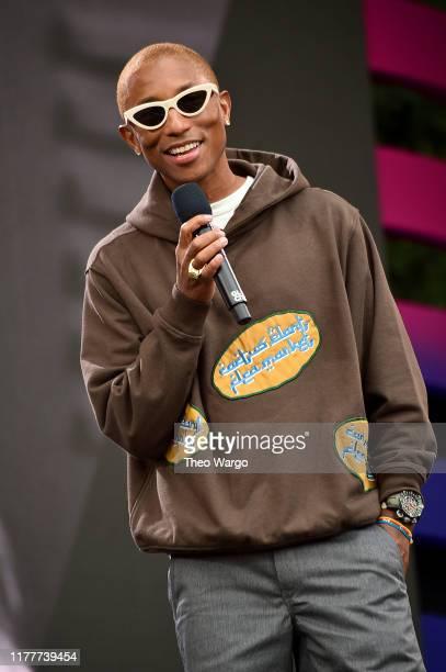 Pharrell Williams speaks onstage during the 2019 Global Citizen Festival: Power The Movement in Central Park on September 28, 2019 in New York City.