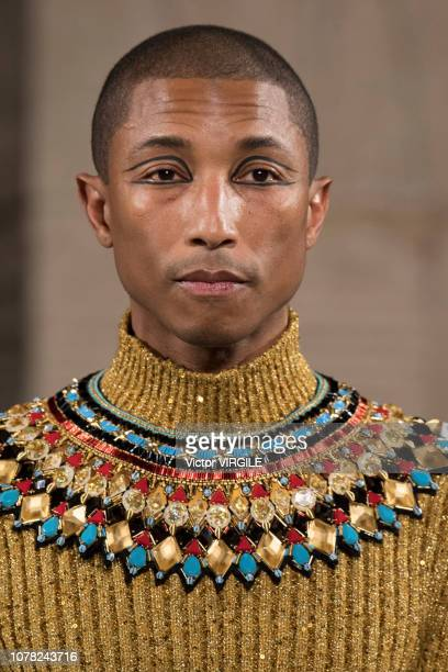 Pharrell Williams walks the runway at Chanel Metiers D'Art 2018/2019 Fashion show at The Metropolitan Museum of Art on December 04 2018 in New York...