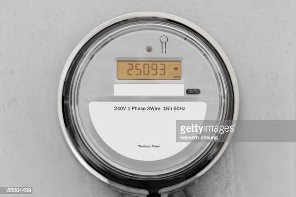 240V 1 Phase 3 wire 1Kh 60Hz gray digital smart meter
