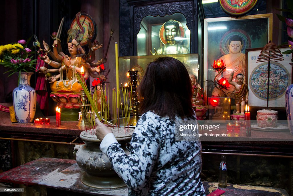 Phat Mau Chuan Altar Of or mother of the 5 Buddhas : Stock Photo