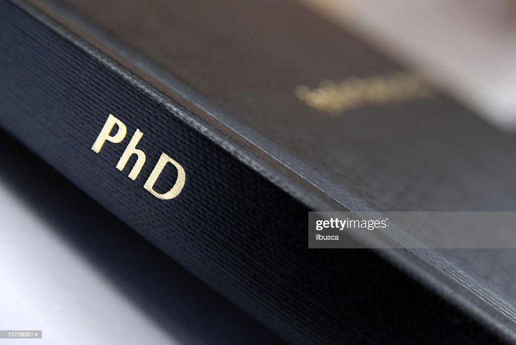 Phd thesis hardbound cover macro : Stock Photo