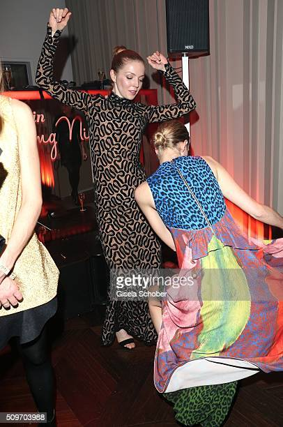 Pheline Roggan and guest are dancing during the 'Berlin Opening Night of GALA UFA Fiction' at Das Stue Hotel on February 11 2016 in Berlin Germany