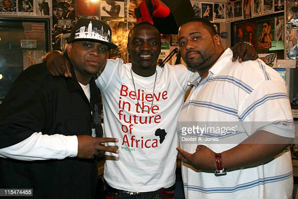 DJ Phenom Akon and BigMan during Akon Hosts Hot 937FM's Annual Summer Cookout May 22 2007 in Farmington Connecticut United States