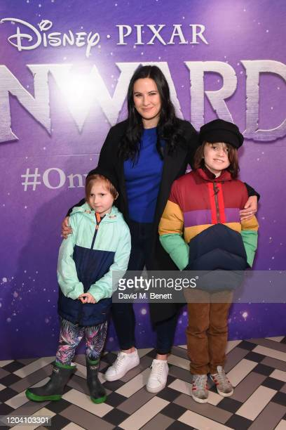 Pheonix Brosnan Kat Shoob and Beau Brosnan attends a special screening of Onward at the Picturehouse Central on February 29 2020 in London England