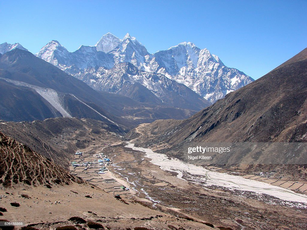 Pheriche, a village high in the Himalayas : Stock Photo