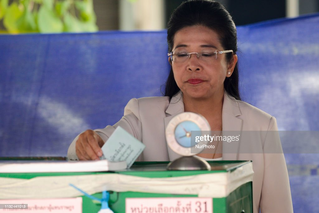 THA: Pheu Thai Party's Candidate For Prime Minister Sudarat Keyuraphan Voting Of Election
