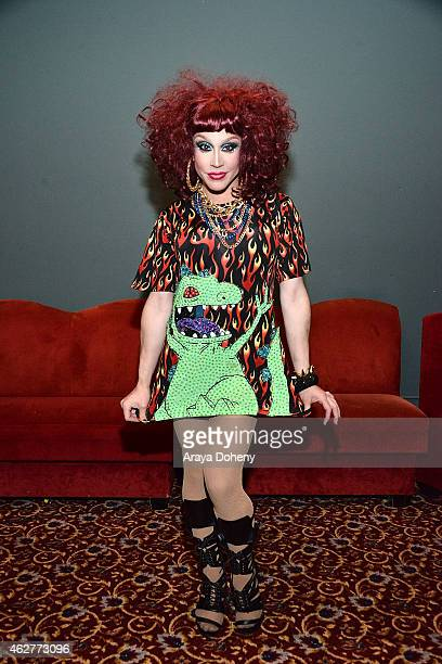 Phi Phi O'Hara attends RuPaul's Drag Race Battle Of The Seasons Condragulations Tour LA Event at The Belasco Theater on February 4 2015 in Los...