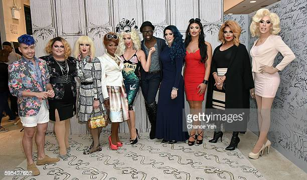 Phi Phi O'Hara Ginger Minj Katya Coco Montrese Alyssa Edwards Bob the Drag Queen Detox Tatianna Roxxxy Andrews and Alaska attend AOL Build to discuss...