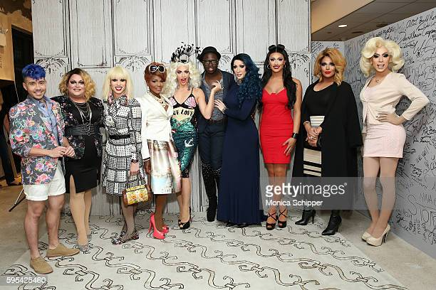 Phi Phi O'Hara Ginger Minj Katya Zamolodchikova Coco Montrese Alyssa Edwards Bob the Drag Queen Detox Tatianna Roxxxy Andrews and Alaska attend AOL...