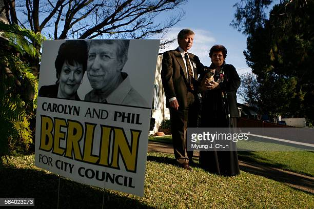 Phil and Carolyn Berlin are husband and wife running for two seats on the Burbank city council an idea opposed by some critics Photo shot on Monday...