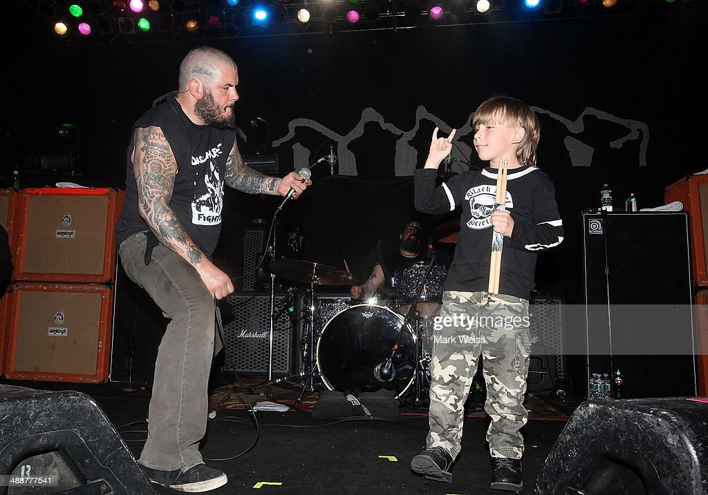 Phil Anselmo of Down and fan perform at The Electric Factory on May 7, 2014 in Philadelphia, Pennsylvania.