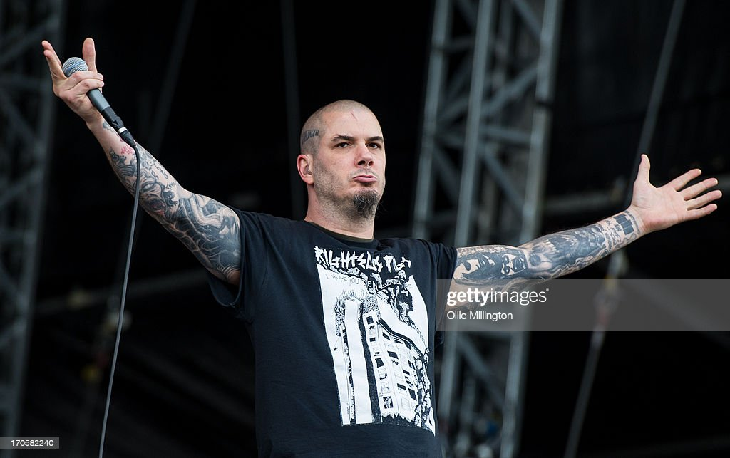Phil Anselmo of Down performs onstage at Day 1 of The Download Festival at Donnington Park on June 14, 2013 in Donnington, England.