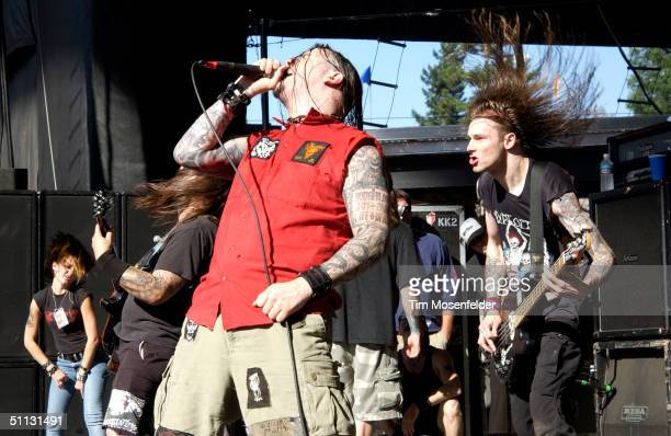 Phil Anselmo of Superjoint Ritual performing as part of Ozzfest 2004 at Shoreline Amphitheater on July 29 2004 in Mountain View California
