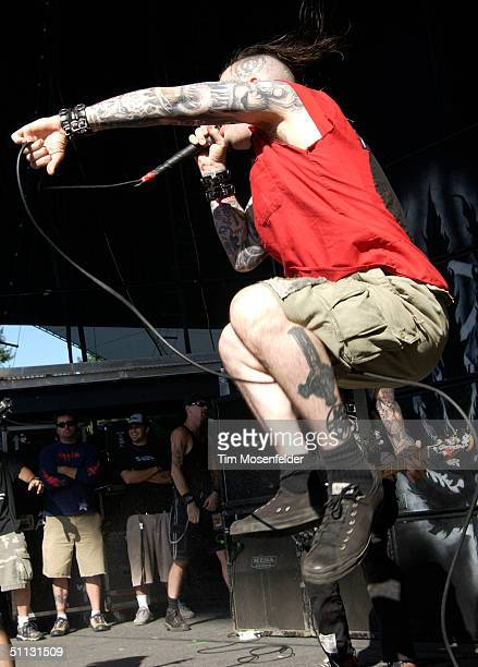 Phil Anselmo of Superjoint Ritual performs as part of Ozzfest 2004 at Shoreline Amphitheater on July 29 2004 in Mountain View California