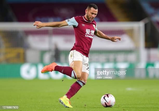 Phil Bardsley of Burnley during the Premier League match between Burnley and Southampton at Turf Moor on September 26 2020 in Burnley England...