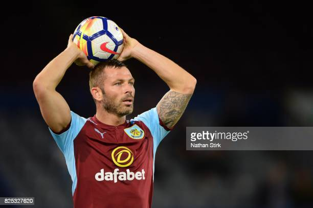Phil Bardsley of Burnley in action during the preseason friendly match between Burnley and Celta Vigo at Turf Moor on August 1 2017 in Burnley England