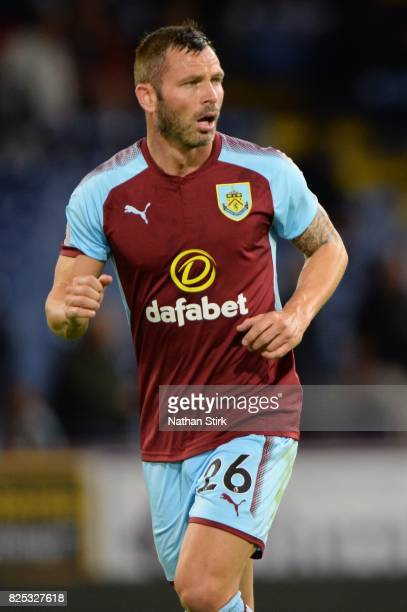 Phil Bardsley of Burnley looks on during the preseason friendly match between Burnley and Celta Vigo at Turf Moor on August 1 2017 in Burnley England