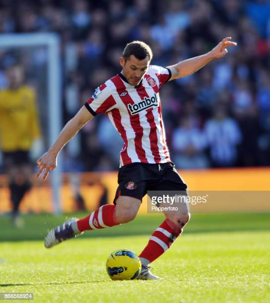 Phil Bardsley of Sunderland in action during the Barclays Premier League match between West Bromwich Albion and Sunderland at The Hawthorns on...