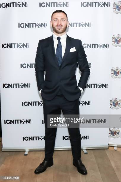 Phil Bardsley pose during the Ignition Card Launch at The Colony on April 10 2018 in Wilmslow England