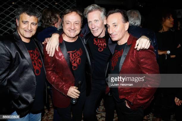 Phil Barney and Plastic Bertrand attend 'Stars 80 La Suite' Paris Premiere at L'Olympia on December 5 2017 in Paris France