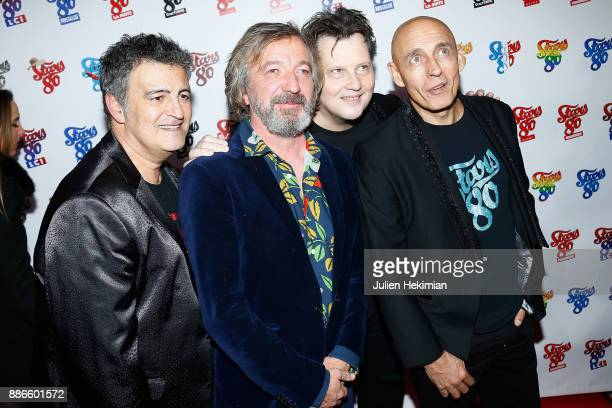 Phil Barney Bruno Lochet and guest attend 'Stars 80 La Suite' Paris Premiere at L'Olympia on December 5 2017 in Paris France