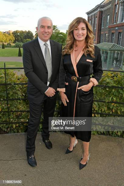 Phil Bates and Dame Karren Brady attend the ATG Summer Party at Kensington Palace Gardens in celebration of Sir Ian McKellen on September 8, 2019 in...