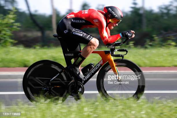 Phil Bauhaus of Germany and Team Bahrain Victorious competes during the 78th Tour de Pologne 2021, Stage 6 a 19km Individual Time Trial stage from...