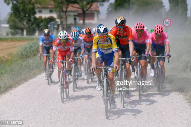 Phil Bauhaus of Germany and Team Bahrain-Merida Blue Leader Jersey / Manuel Belletti of Italy and Team Androni Giocattoli-Sidermec / Thomas Sprengers...