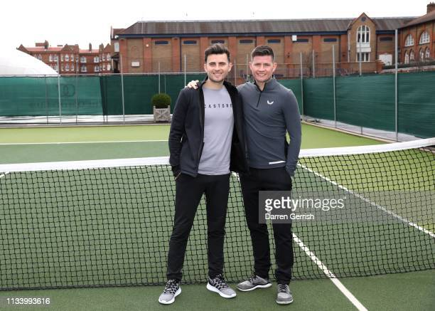 Phil Beahon and Tom Beahon attend the Castore and Andy Murray Press Conference at The Queen's Club on March 06 2019 in London United Kingdom