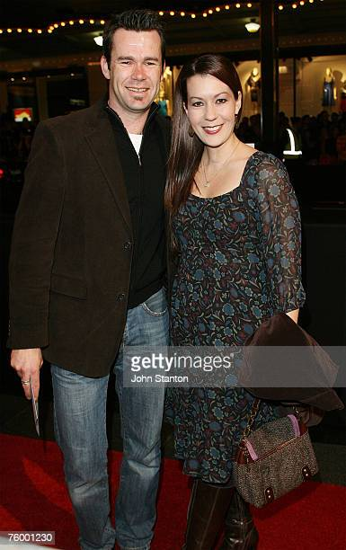 """Phil Burton of Human Nature and partner attend the Sydney premiere of """"The Bourne Ultimatum"""" at the State Theatre on August 7, 2007 in Sydney,..."""