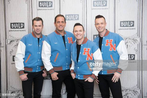 Phil Burton Toby Allen Michael Tierney and Andrew Tierney of Human Nature visit Build Series to discuss 'Human NatureJukebox In Concert at the...
