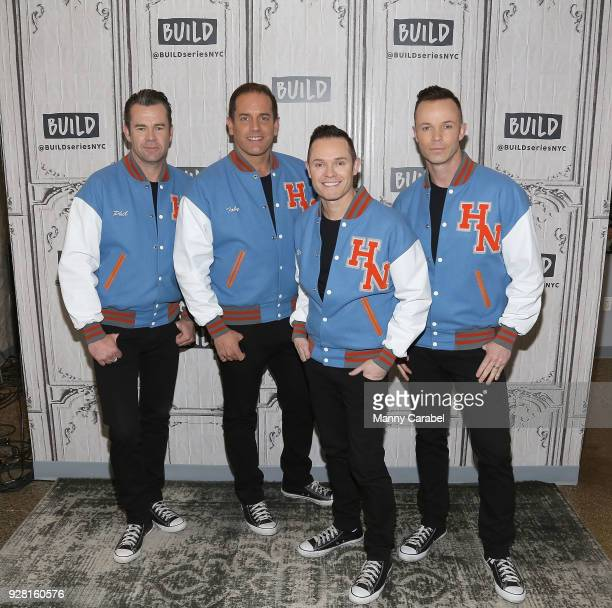 Phil Burton Toby Allen Michael Tierney and Andrew Tierney of Human Nature visit the Build Series at Build Studio on March 6 2018 in New York City