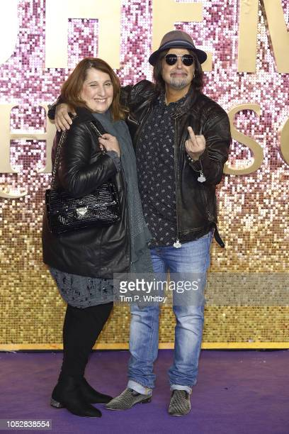 Phil Campbell and guest attend the World Premiere of 'Bohemian Rhapsody' at The SSE Arena Wembley on October 23 2018 in London England