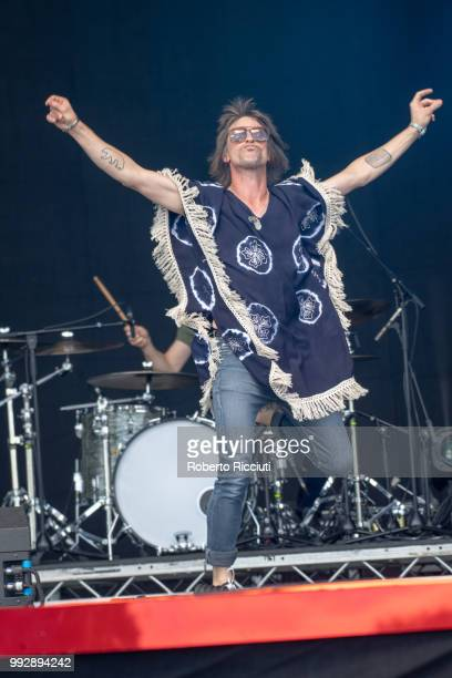 Phil Campbell of The Temperance Movement performs on stage during TRNSMT Festival Day 4 at Glasgow Green on July 6 2018 in Glasgow Scotland