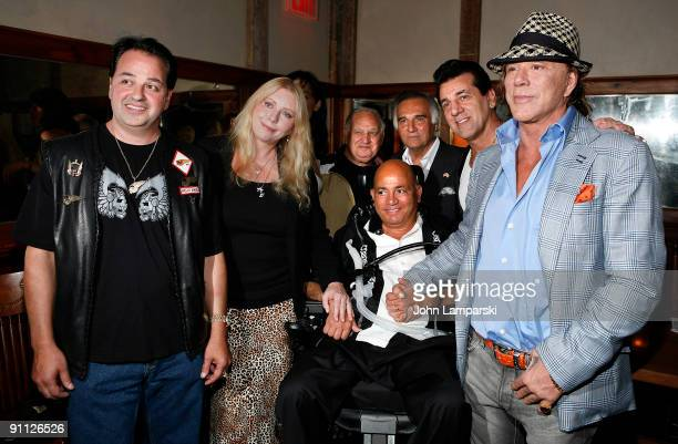 Phil Carlo Chuck Zito and Mickey Rourke and guests attend The Butcher Anatomy Of A Mafia Psychopath book release party at Locanda Verde at The...