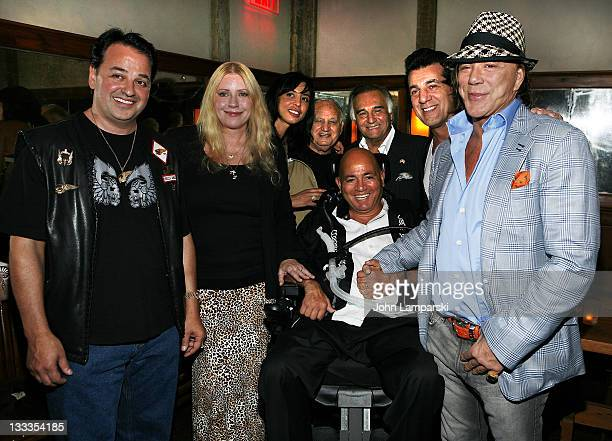 Phil Carlo Chuck Zito Mickey Rourke and guests attend The Butcher Anatomy Of A Mafia Psychopath book release party at Locanda Verde at The Greenwich...