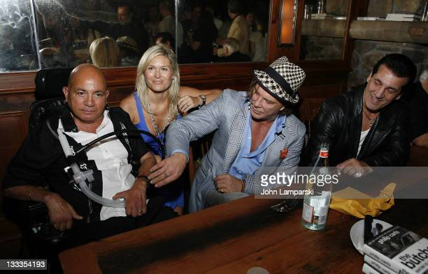 Phil Carlo Mickey Rourke and Chuck Zito and guest attend 'The Butcher Anatomy Of A Mafia Psychopath' book release party at Locanda Verde at The...