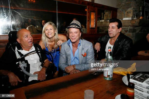 Phil Carlo Mickey Rourke and Chuck Zito and guest attend The Butcher Anatomy Of A Mafia Psychopath book release party at Locanda Verde at The...