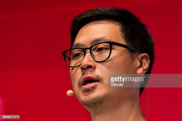 Phil Chen chief crypto officer of HTC attends the Day 2 of the RISE Conference 2018 at Hong Kong Convention and Exhibition Centre on July 11 2018 in...
