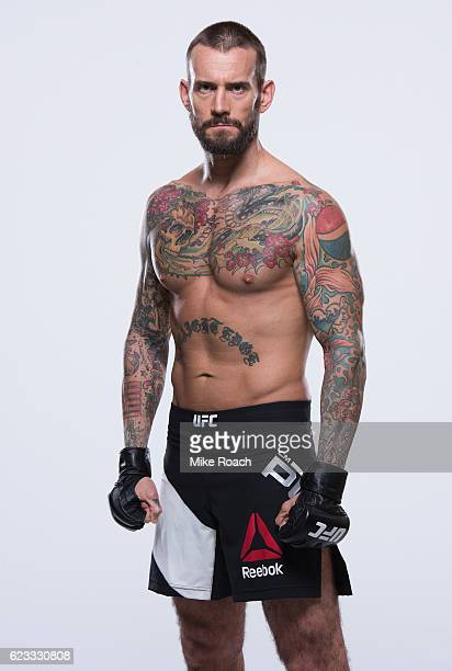 Phil 'CM Punk' Brooks of the United States poses for a portrait during a UFC photo session on September 6 2016 in Clevland Ohio