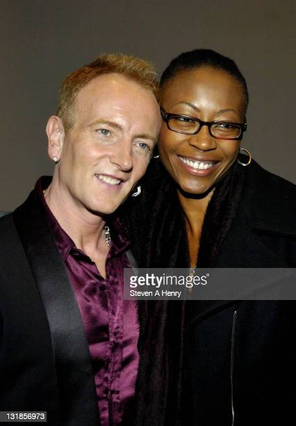Phil Collen and his wife Helen Simmons visit Rain A Tribute To The Beatles on Broadway at the Neil Simon Theatre on November 12 2010 in New York City