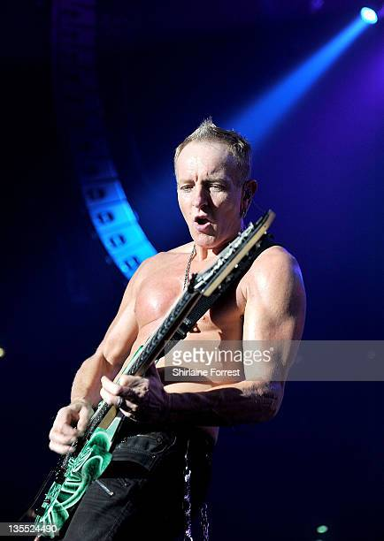 Phil Collen of Def Leppard performs at MEN Arena on December 11 2011 in Manchester England