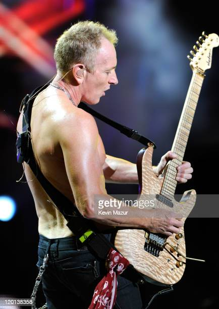 Phil Collen of Def Leppard performs at Nikon at Jones Beach Theater on July 30 2011 in Wantagh New York