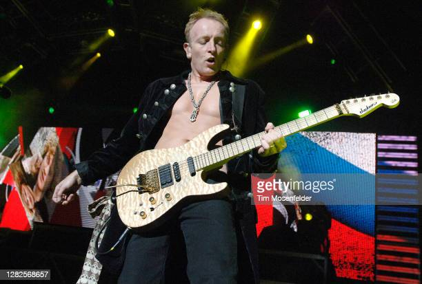 Phil Collen of Def Leppard performs at Sleep Train Pavilion on September 18 2007 in Concord California